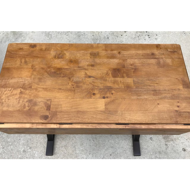 Drop Leaf X Base Table - Image 4 of 5