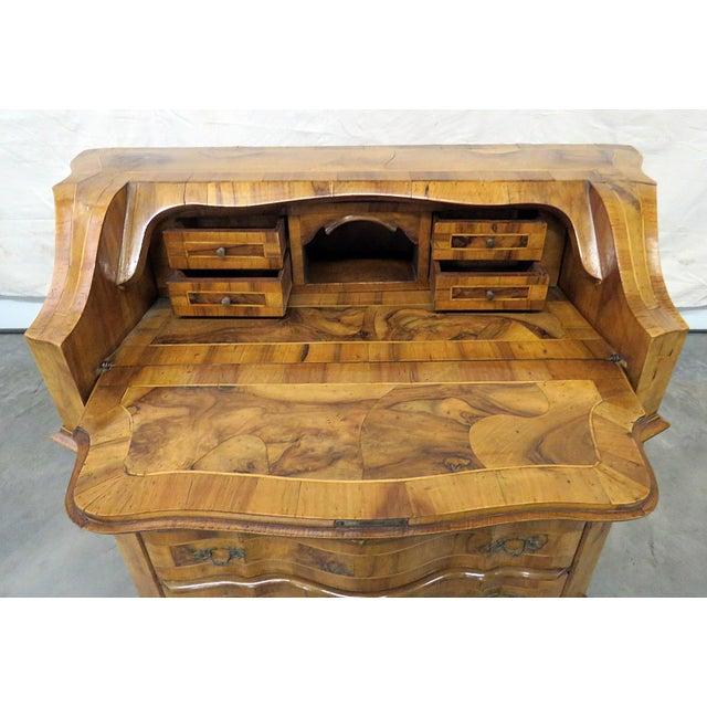 Federal Vintage Olivewood Secretary Desk For Sale - Image 3 of 11