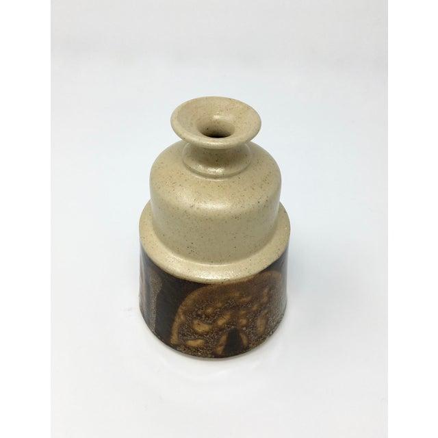 Vintage Mid-Century Ceramic Earth Tone Vase For Sale In Minneapolis - Image 6 of 11