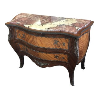 French Satinwood Serpentine Chest For Sale