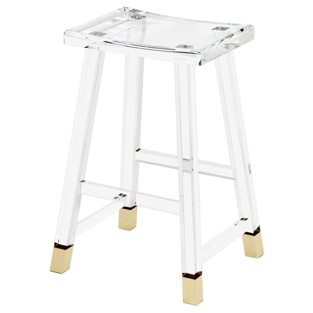 Combining glamour with practicality, the Reva Counter Stool manages to be both classic and on-trend.