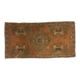 Vintage Turkish Anatolian Rug - 1′6″ × 2′11″