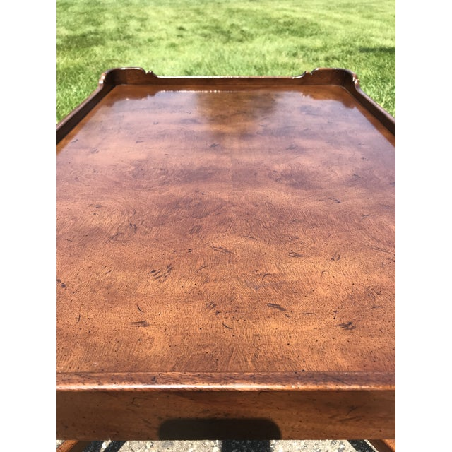 Traditional Walnut Coffee Table by Henredon For Sale - Image 6 of 8