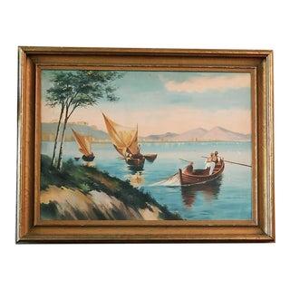 Sailing Scene Original Painting For Sale