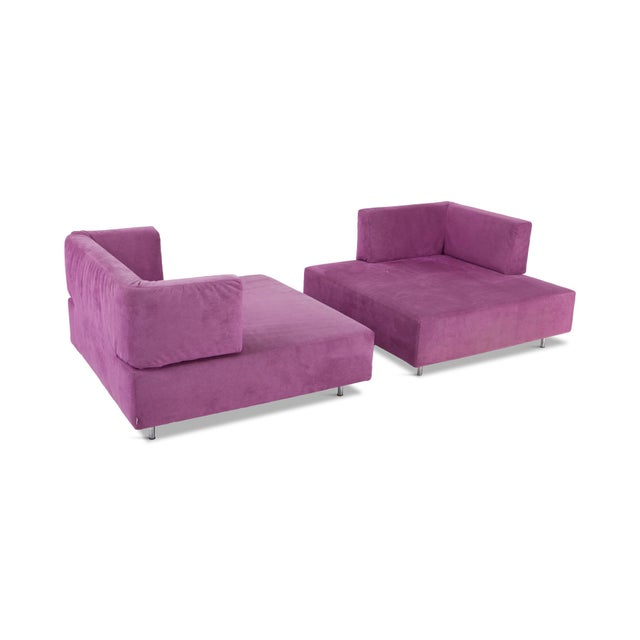 Italian Edra l'Homme Et La Femme Modular Sofa by Francesco Binfaré For Sale - Image 3 of 11