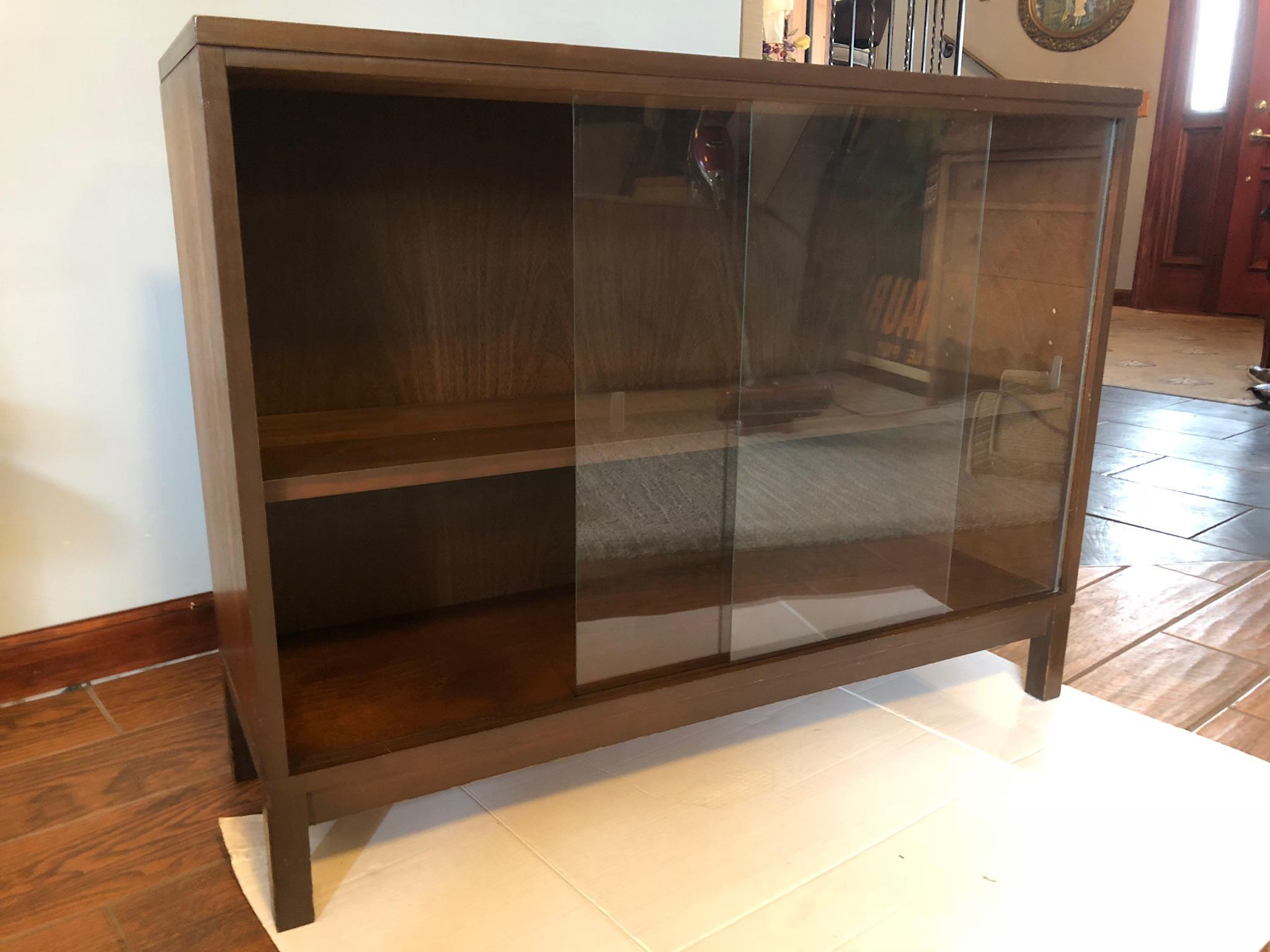 Mid Century Modern Glass Cabinet Bar Server   Image 7 Of 8