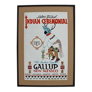 Dated 1945 Inter-Tribal Ceremonial Original Poster For Sale