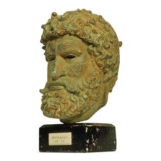 Vintage Mid Century Poseidon Greek Bust For Sale