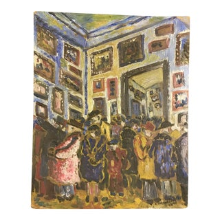 Parisian Art Gallery Painting For Sale