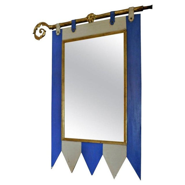 19th Century French Painted Wood Framed Mirror For Sale In Los Angeles - Image 6 of 6
