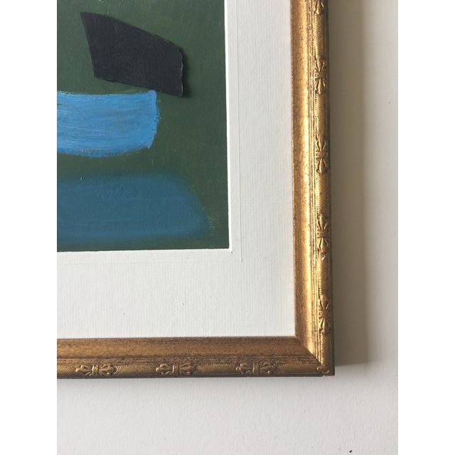 Abstract Pastel Geometric Abstract Painting For Sale - Image 3 of 4