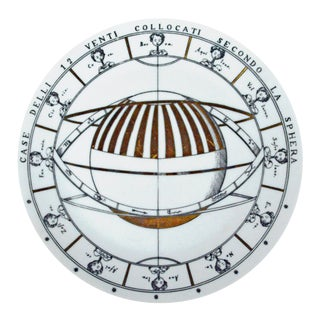 Piero Fornasetti Porcelain Astronomici Plate, #8 in Series For Sale
