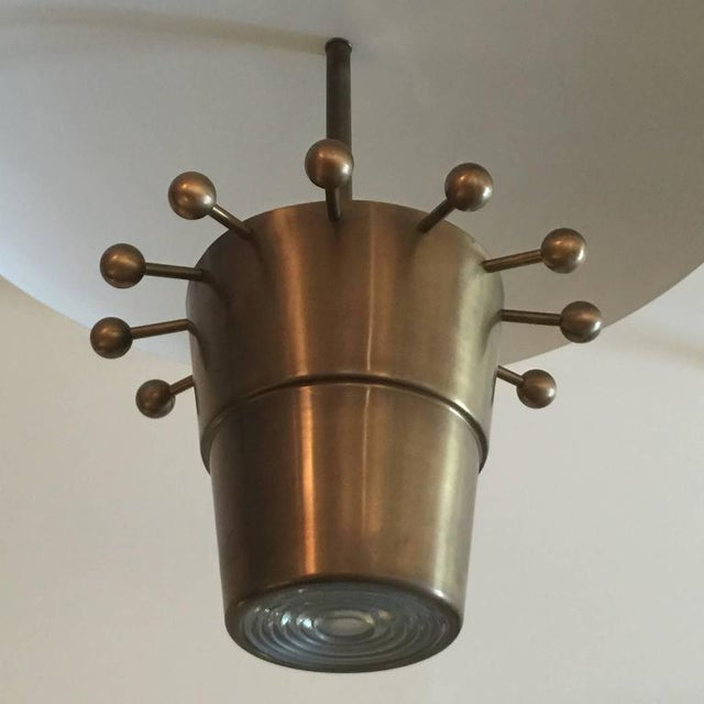 Over-sized Brass Domed Hanging Light - Image 2 of 5