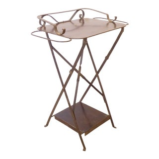 Antique Campaign Folding Iron Washstand For Sale