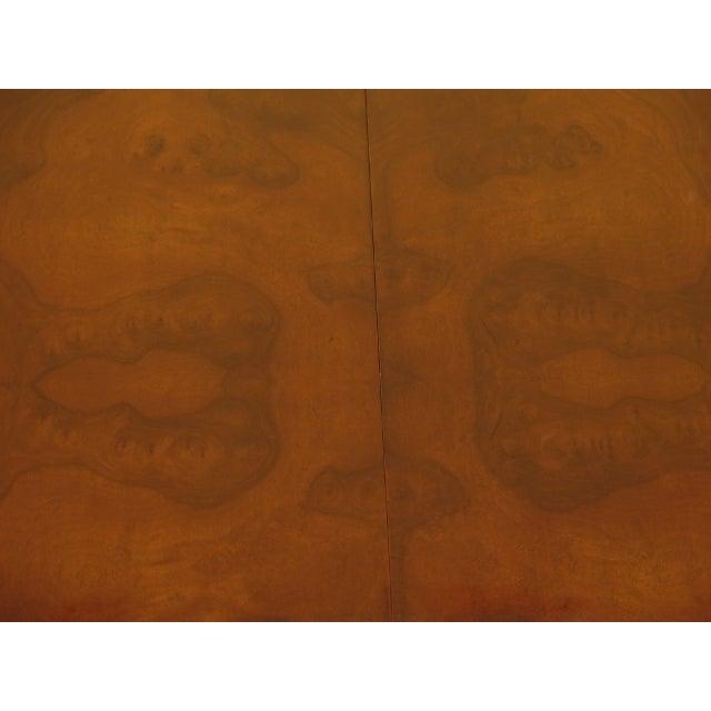 EJ Victor EJ Victor Regency Burl Walnut Dining Room Table For Sale - Image 4 of 11