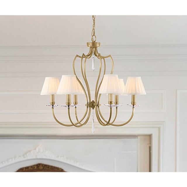 Pimlico Aged Brass Chandelier For Sale In Baton Rouge - Image 6 of 6