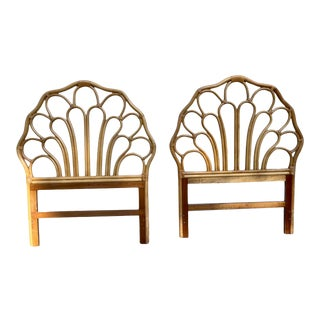 Vintage Rattan Twin Headboards a Pair For Sale