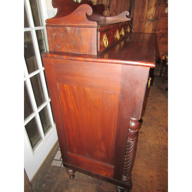 Wood Antique Empire Paw Foot Crotch Mahogany Chest of Drawers For Sale - Image 7 of 13