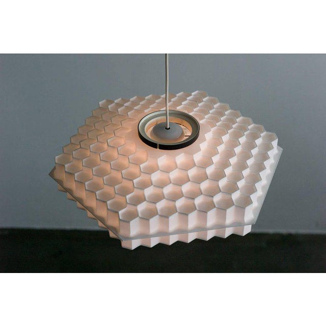 1960s Architectural Honeycomb Pendant For Sale - Image 5 of 6
