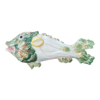 Italian Fish Serving Dish With Cover For Sale