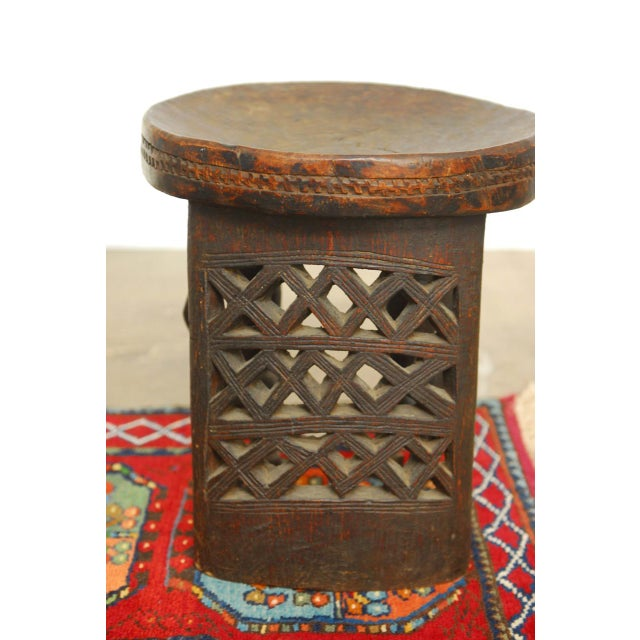 African Carved Tribal Stool with Figural Legs For Sale - Image 11 of 12
