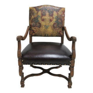 Vintage Old Hickory Tannery Leather Chair