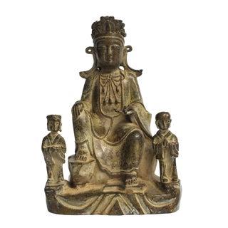 Antique Bronze Buddha as a Teacher Sculpture For Sale