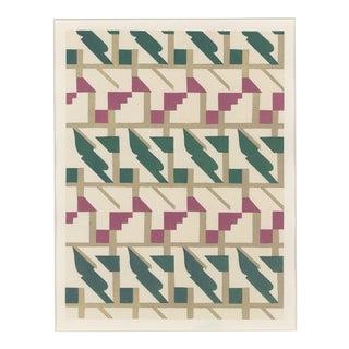 "Serge Gladky Art Deco Pochoir ""Composition No. 22"" Pochoir For Sale"