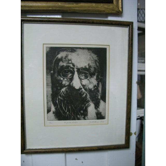 1976 Original Scott Prior Etching of Rodin - Image 3 of 9