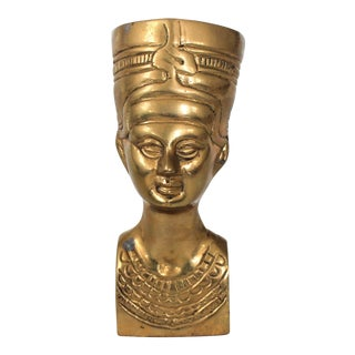 Brass Egyptian Figurine For Sale