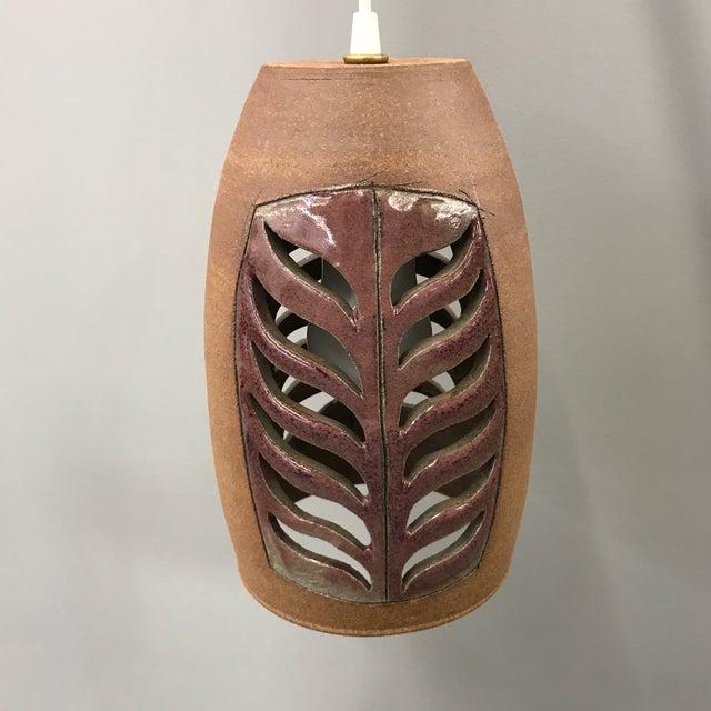 Brent Bennett Ceramic Pendant Lamp For Sale - Image 9 of 9