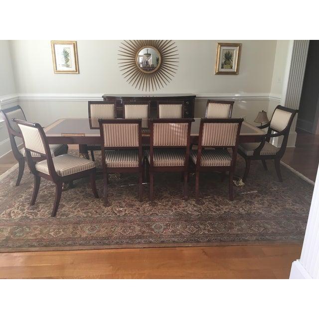 Baker Mahogany & Gold Regency Dining Set - Image 3 of 5