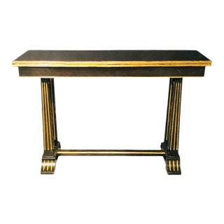 Stamped Jansen Flip Top Ebony Card, Sofa or Game Table For Sale