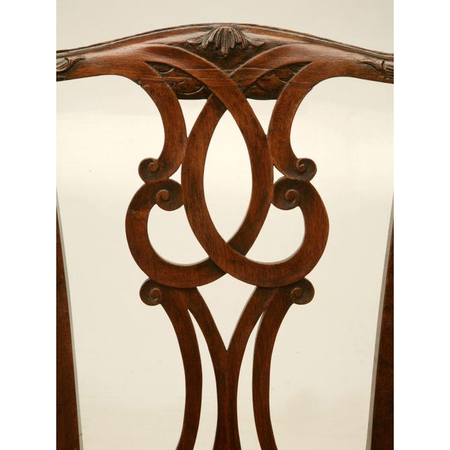 Eighteenth Century Hand-Carved Irish Chippendale Side Chair For Sale - Image 4 of 10