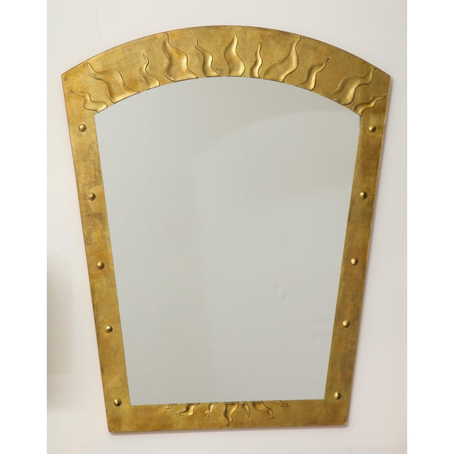 Gold David Marshall Èglomisé Mirror For Sale - Image 8 of 13