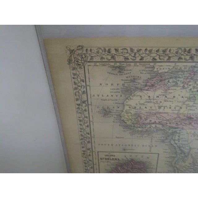 Paper Vintage 1860 Original Map of Africa For Sale - Image 7 of 8