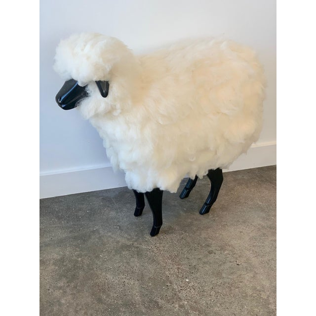 This wool sheep is not only functional but a great conversation piece. His wooden face and legs are black and the body is...