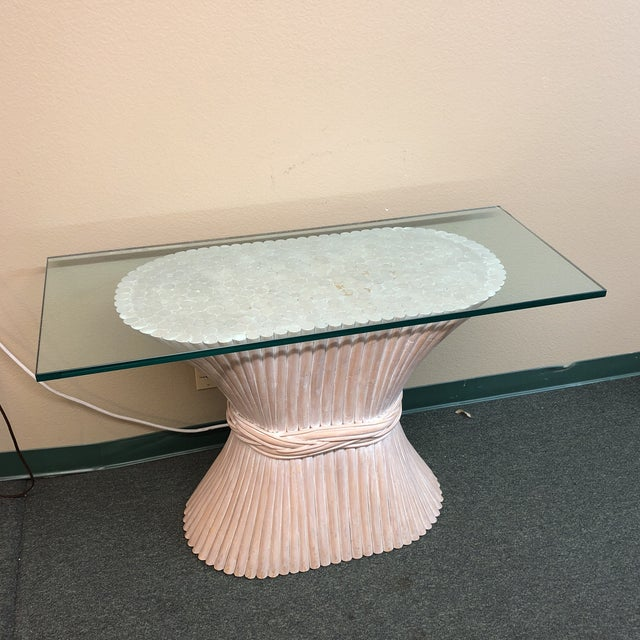 McGuire McGuire Wheat Sheath Style Console Table For Sale - Image 4 of 11