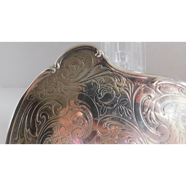 Boho Chic Fabulous Vintage Chased 835 Silver Hand Mirror For Sale - Image 3 of 11