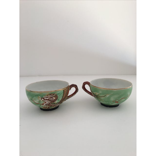 1940's Nagoya Moriage Dragon Ware Tea Set - 7 - Image 8 of 11