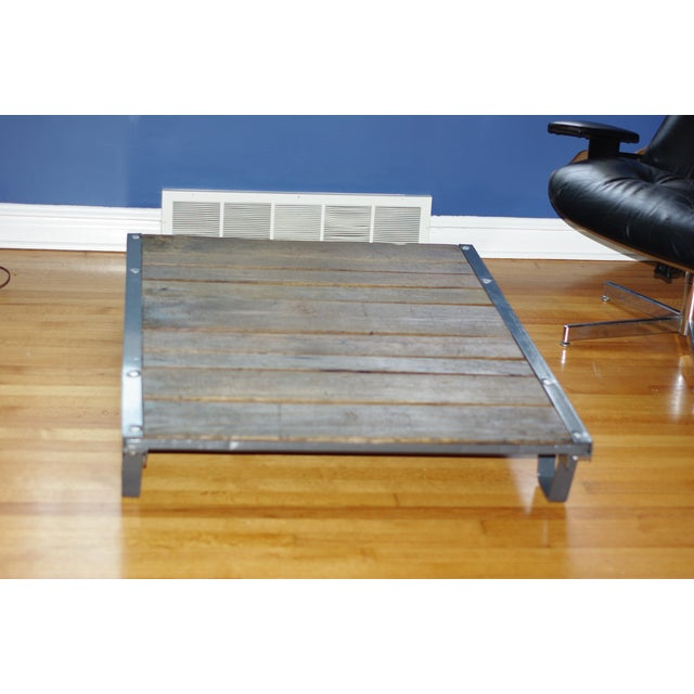 Vintage Industrial Pallet Coffee Table - Image 2 of 5