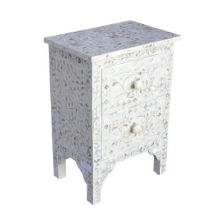 Mother of Pearl Inlaid Nightstand Dresser For Sale