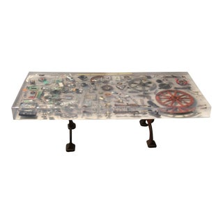 Industrial Revolution Resin Dining Table For Sale