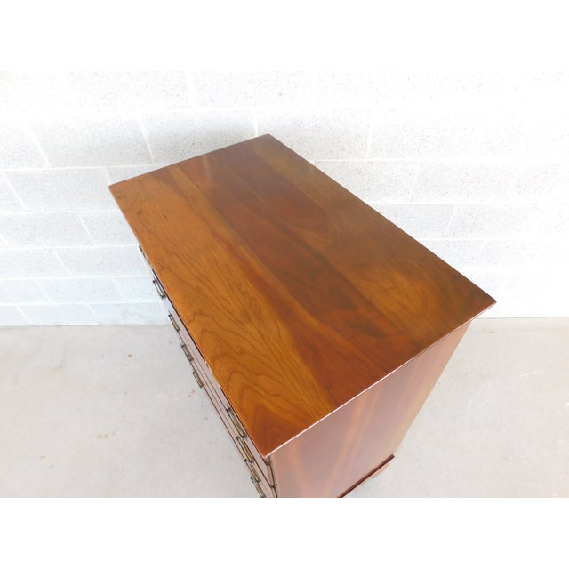 Mid 20th Century Stickley Chippendale Style Solid Cherry 6 Drawer Tall Chest For Sale - Image 5 of 12