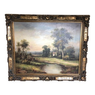 Early 19th Century Antique Dutch Landscape Oil Painting For Sale