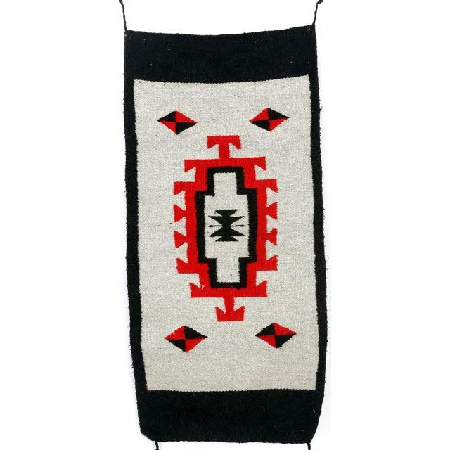 Southwestern Navajo Style Wool Rug - 1′8″ × 3′7″ - Image 1 of 2