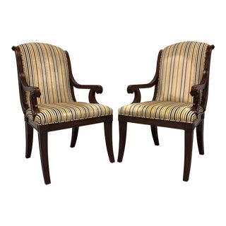 Theodore Alexander Gabrielle French Provincial Armchairs - a Pair For Sale