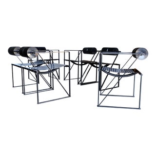 "1982 ""Seconda 602"" Armchairs by Architect Mario Botta for Alias - Set of 6 For Sale"