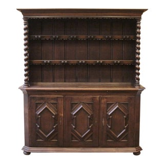 19th Century Country Oak Welsh Cupboard For Sale