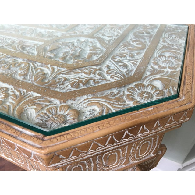 Hand-Carved Elephant Console Table - Image 10 of 11